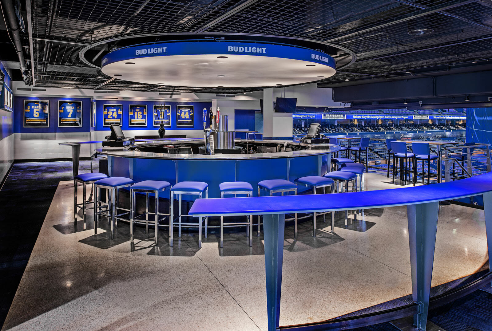 PARIC Corp helped make the Bud Light zone look new and sleek during the Scottrade Center Improvements